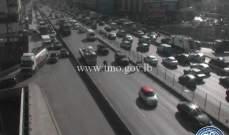 حركة المرور كثيفة من الكرنتينا باتجاه الدورة وصولا الى جل الديب