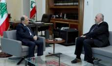 الرئيس عون التقى ليون وبحث معه الاوضاع العامة في البلاد