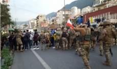 LBC: الجيش فض اشكالا في البترون تخلله تدافع بين مناصرين للوطني الحر ومجموعة من المتظاهرين