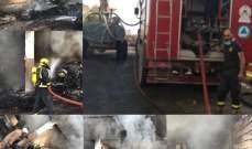 حريق في معمل فرز النفايات في الخيام