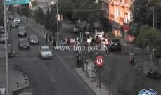 قطع الطريق عند تقاطع دار الطائفة الدرزية - فردان وعلى  تقاطع الروم