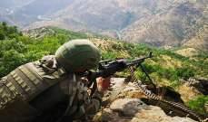 الدفاع التركية: 43 إرهابيا تم تحييدهم بعملية المخلب الجارية شمال العراق