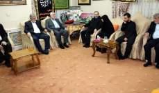 وفد من حركة حماس برئاسة هنية يقدم واجب العزاء بمنزل سليماني