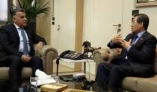 اللواء ابراهيم التقى سفير كوريا الجنوبية وبحث معه الأوضاع العامة