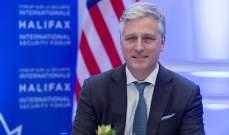 مستشار الأمن القومي الأميركي: مازلنا نأمل باتفاق تجارة أولي مع الصين هذا العام