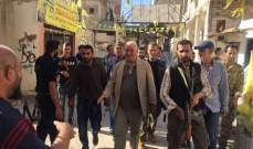 النشرة: اللواء ابو عرب  تفقد مخيم المية ومية