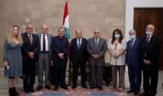 الرئيس عون: لبنان لن يتنازل عن حقوقه في المفاوضات غير المباشرة لترسيم حدوده البحرية
