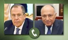 لافروف وشكري بحثا الأزمتين في سوريا وليبيا وقضايا إقليمية