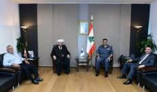 اللواء عثمان التقى رئيس المحكمة العسكرية وعلم الدين
