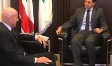 الجميل التقى سفير الارجنتين وعرض معه العلاقات بين البلدين
