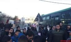 النشرة: وصول 4 حافلات تقل عشرات النازحين السوريين إلى معبر جديدة يابوس