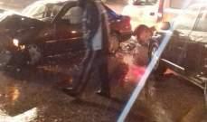 النشرة: ثلاثة جرحى اثر حادث سير على أوتوستراد بعلبك - زحلة في رياق