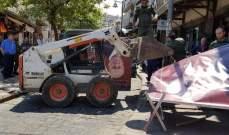 شرطة بلدية طرابلس ازالت البسطات والتعديات في اسواق المدينة التجارية