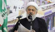 الخطيب: من يطالب بنزع السلاح مطالب بتبرير تقصيره ببناء الدولة فلبنان بلد عربي مقاوم