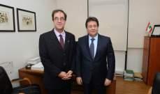 كنعان يلتقي في هذه الأثناء السفير الفرنسي في لبنان