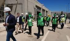 نائبة وزير الخارجية الإيطالي تفقدت محطة تكرير مياه الصرف الصحي بزحلة