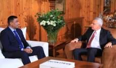 فرنجية بحث مع سفير باكستان بمشروع السلام في المنطقة ومجمل التطورات