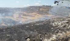 النشرة: اخماد حريق في حاروف الجنوبية اتى على مساحات واسعة من اشجار الزيتون