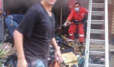 تجدد اندلاع الحريق في مستودع لشركة مازولا في المكلس