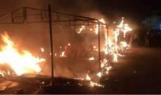 النشرة: شبان يرمون البنزين على خيمة الحراك في بعلبك بعد اعتداء ضهر البيدر