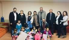 هيئة قضاء زغرتا في التيار الوطني الحر قامت بزيارة ميلادية الى مؤسسة مار انطون في بلدة كفرفو