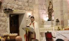 الأب غانم ترأس قداسا في كنيسة رعية مار الياس- وادي العرائش بمناسبة تذكار الموتى