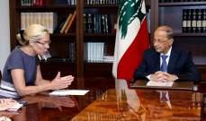 الرئيس عون عرض مع كاغ تحضيرات سفره الى نيويورك واثار موضوع الانتهاكات الاسرائيلية