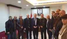 لقاء تضامني تكريمي لعميد الاسرى السوريين صدقي المقت في السفارة السورية