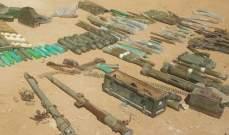 الجيش ضبط مخزن أسلحة وذخائر تابع للنصرة في وادي حميد بجرود عرسال