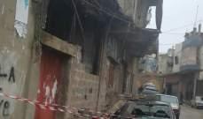غزارة الامطار في عكار تسببت بارتفاع منسوب الانهر وانهيار جزء من سقف منزل في ببنين