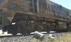 النقل السورية: اعتداء إرهابي استهدف قطار شحن الفوسفات بريف حمص الشرقي