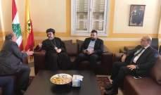 احمد الحريري زار متروبوليت بيروت للسريان الارثوذكس