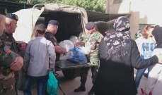 الجيش يوزع خصص غذائية لعدد من العائلات في طرابلس