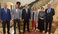 درويش بحث مع سفيرتي لبنان والعراق في إيطاليا بسبل دعم الاقتصاد اللبناني