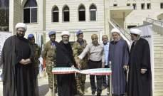 اليونيفيل الايطالية تدشن مشروع خيمة زجاجية في دار الإفتاء الجعفري في صور