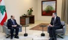 رئاسة الجمهورية: عون شكر أديب على الجهود التي بذلها وأبلغه قبول اعتذاره