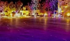 بلدية زوطر الغربية أنارت ساحة البلدة والجامع والكنيسة والنادي الحسيني