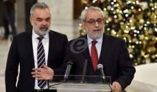 بقرادونيان: طالبنا أديب أن تكون الحكومة إنقاذية متجانسة ووزراء مسؤولون