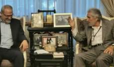 الخطيب التقى وفدا من حزب الله: لضرورة الاستجابة لمطالب الحراك المحقة