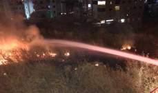 النشرة: إخماد حريق في جادة الشماع بصيدا