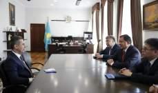 سفير لبنان بكازاخستان التقى حاكم اتيراو لنقل هواجس اللبنانيين وطلب تأمين سلامتهم