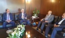 رئيس غرفة التجارة في صيدا يبحث مع السفير الجزائري العلاقة بين البلدين