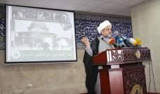 تجمع العلماء المسلمين زار الحص: لاعادة توجيه البوصلة نحو فلسطين