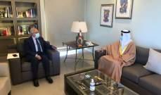 سليمان استقبل سفير الإمارات مودعا: لن ينهض لبنان من دون حاضنته العربية
