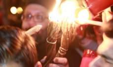 شعلة النور المقدس تصل مساء السبت الى بيروت