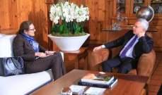 فرنجية عرض الاوضاع اللبنانية والإقليمية مع سفيرة الدنمارك