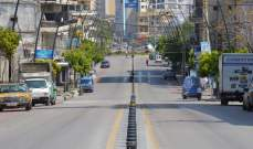 النشرة: مدينة صيدا التزمت بالاقفال العام ضمن الاجراءات العامة لمواجهة انتشار كورونا