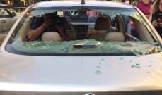 الإعتداء على عدد من المتظاهرين وتكسير سياراتهم في محيط عين التينة