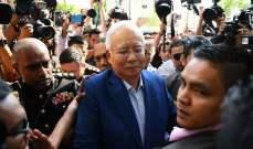 رئيس وزراء ماليزيا السابق نجيب عبد الرزاق يمثل امام لجنة مكافحة الفساد