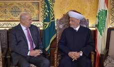 مخزومي التقى دريان: لحماية أموال المودعين لا سيما الصغار منهم
